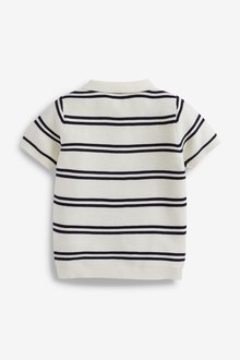 Next Knitted Stripe Polo (3mths-7yrs) - 289630