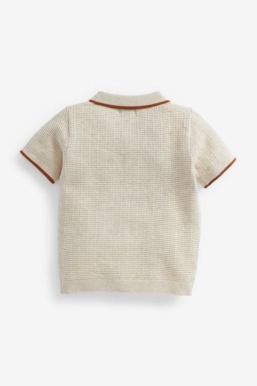 Next Knitted Button Through Polo (3mths-7yrs)