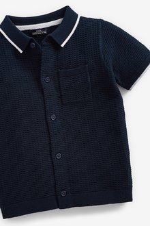 Next Knitted Button Through Polo (3mths-7yrs) - 289633