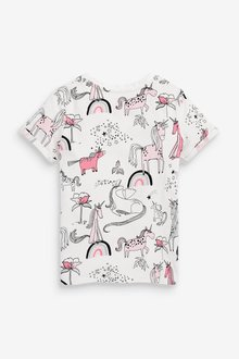 Next Unicorn All Over Print T-Shirt (3-16yrs) - 289634