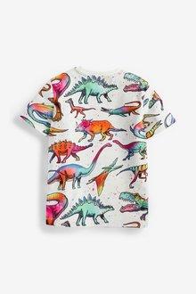 Next Rainbow Dino All Over Print T-Shirt (3-14yrs) - 289639