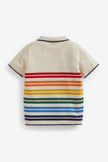 Next Knitted Stripe Polo (3mths-7yrs) - 289640