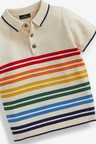 Next Knitted Stripe Polo (3mths-7yrs)