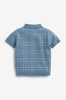 Next Knitted Check Polo (3mths-7yrs) - 289643