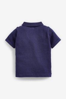 Next Knitted Vertical Stripe Zip Neck Poloshirt (3mths-7yrs) - 289648