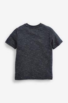 Next Short Sleeve Textured Chest Stripe T-Shirt (3-16yrs) - 289658