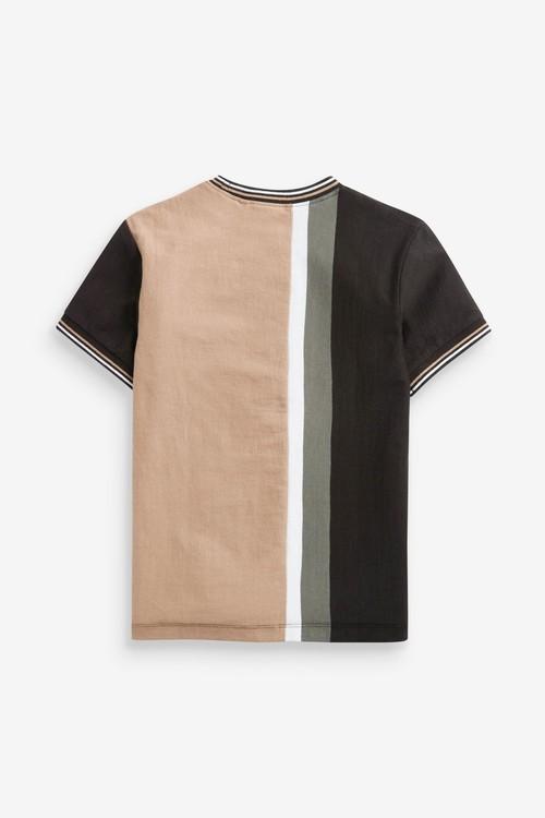 Next Colourblock Short Sleeve Jersey T-Shirt (3-16yrs)
