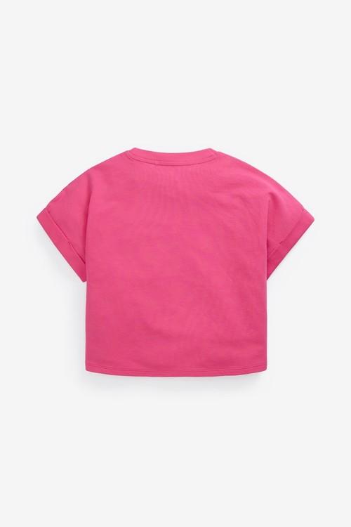 Next Organic Cotton Boxy Shaped Basic T-Shirt (3-16yrs)