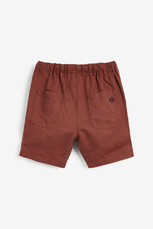 Next Linen Blend Slouchy Pull On Shorts (3mths-7yrs)