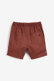 Next Linen Blend Slouchy Pull On Shorts (3mths-7yrs) - 289681