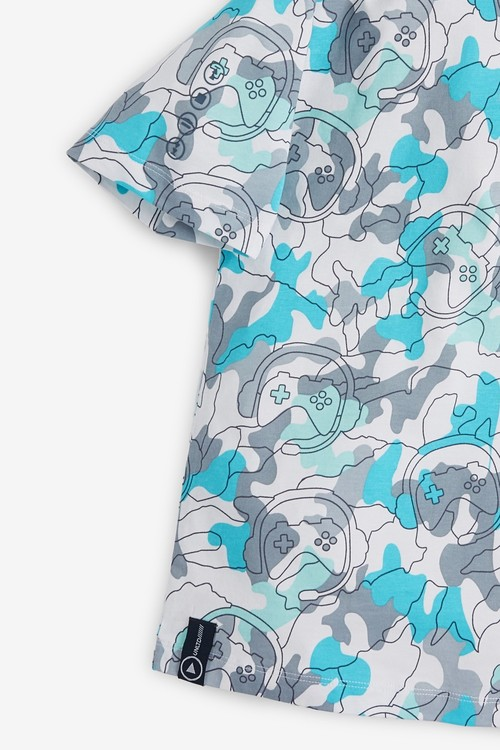 Next Gaming Short Sleeve Relaxed Drop Shoulder Fit T-Shirt (3-16yrs)