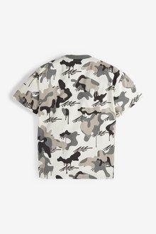 Next Camo Short Sleeve Relaxed Drop Shoulder Fit T-Shirt (3-16yrs) - 289689