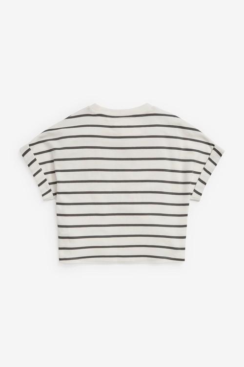 Next Stripe Boxy Shaped Basic T-Shirt (3-16yrs)