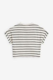 Next Stripe Boxy Shaped Basic T-Shirt (3-16yrs) - 289690