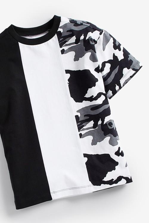 Next Camouflage Colourblock Short Sleeve Jersey T-Shirt (3-16yrs)