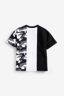 Next Camouflage Colourblock Short Sleeve Jersey T-Shirt (3-16yrs) - 289692