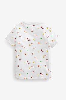 Next Relax Fit Fruit Print T-Shirt (3-16yrs) - 289693