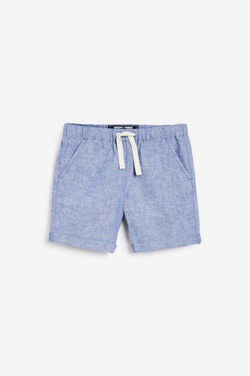 Next 2 Pack Linen Blend Pull-On Shorts (3mths-7yrs)