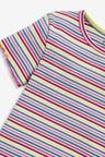 Next Ribbed Rainbow Stripe T-Shirt (3-16yrs)