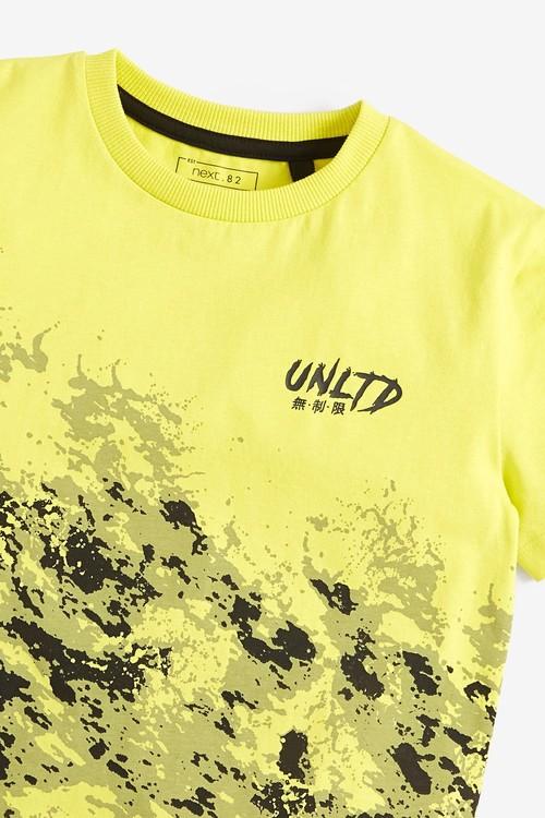 Next Splat Print Short Sleeve Jersey T-Shirt (3-16yrs)