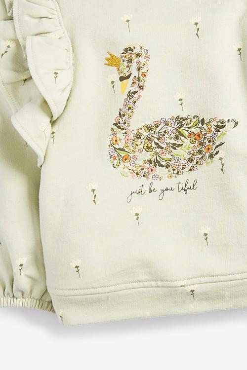 Next Swan Frill Sweatshirt (3mths-7yrs)