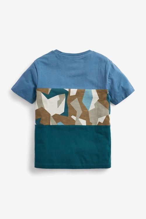 Next Colourblock Short Sleeve T-Shirt (3-16yrs)