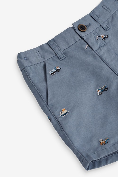 Next Embroidered Chino Shorts (3mths-7yrs)