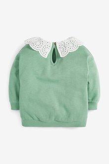 Next Broderie Collar Sweatshirt (3mths-7yrs) - 289722