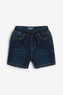 Next 2 Pack Jersey Denim Shorts (3mths-7yrs) - 289726