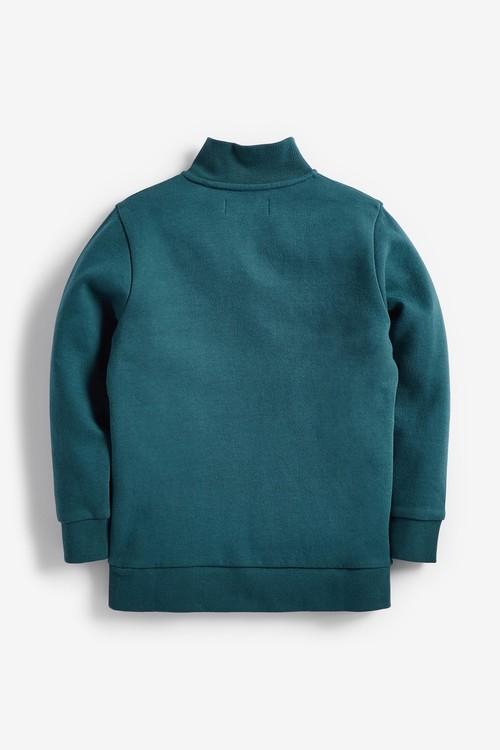 Next Lightweight Half Zip Colour Block Sweater (3-16yrs)