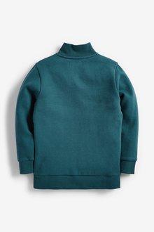 Next Lightweight Half Zip Colour Block Sweater (3-16yrs) - 289736