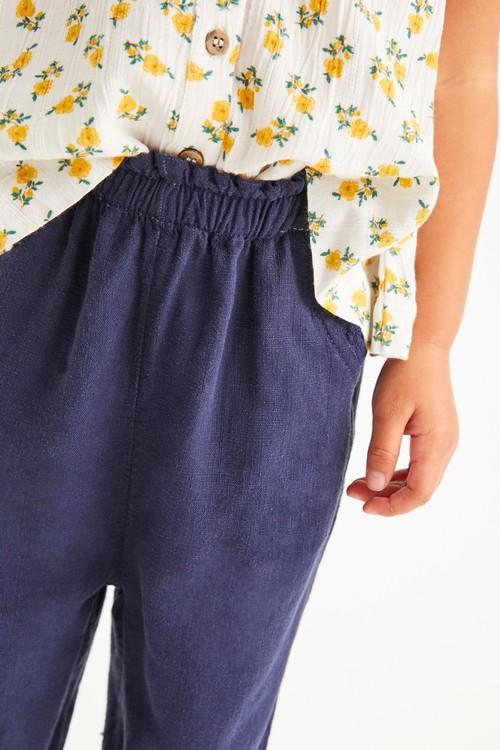 Next Linen Mix Trousers (3mths-7yrs)