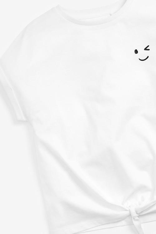 Next Short Sleeve Tie Front T-Shirt (3-16yrs)