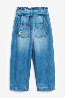 Next Pull-On Tie Belt Jeans With Flower Detail (3mths-7yrs) - 289757