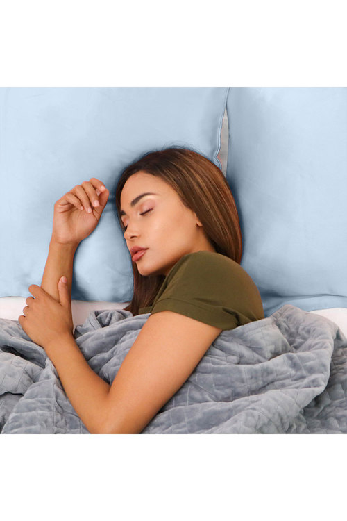 Royal Comfort Soft Blue Pure Silk Pillow Case