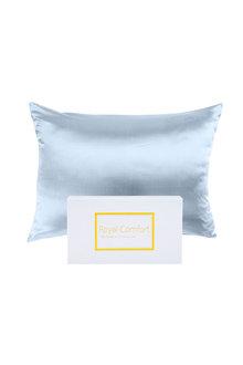 Royal Comfort Soft Blue Pure Silk Pillow Case - 289932