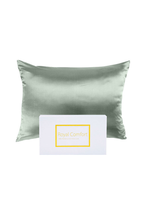 Royal Comfort Sage Green Pure Silk Pillow Case
