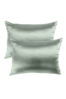 Royal Comfort Sage Green Pure Silk Pillow Case - 289933