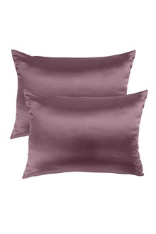 Royal Comfort Wine Pure Silk Pillow Case - 289934
