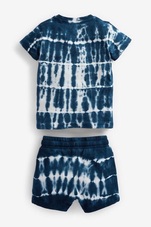 Next Short Sleeve Tie Dye T-Shirt And Shorts Set (3mths-7yrs)