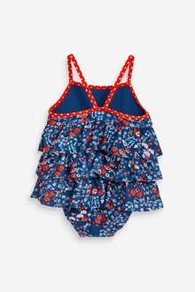 Next Tiered Ditsy Print Swimsuit (3mths-7yrs) - 290185