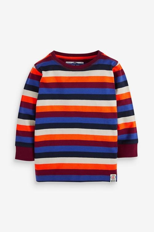 Next 2 Pack Stripe Long Sleeve T-Shirts (3mths-7yrs)