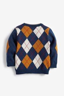 Next Argyle Knitted Jumper (3mths-7yrs) - 290264