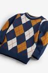 Next Argyle Knitted Jumper (3mths-7yrs)