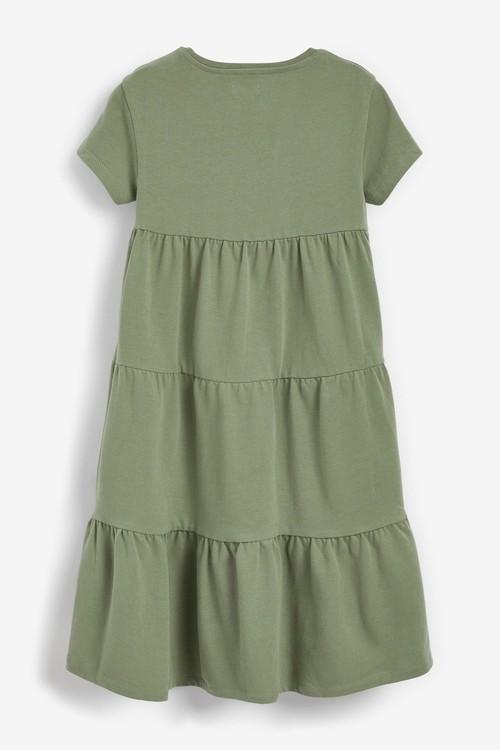 Next Jersey Tiered Dress (3-16yrs)