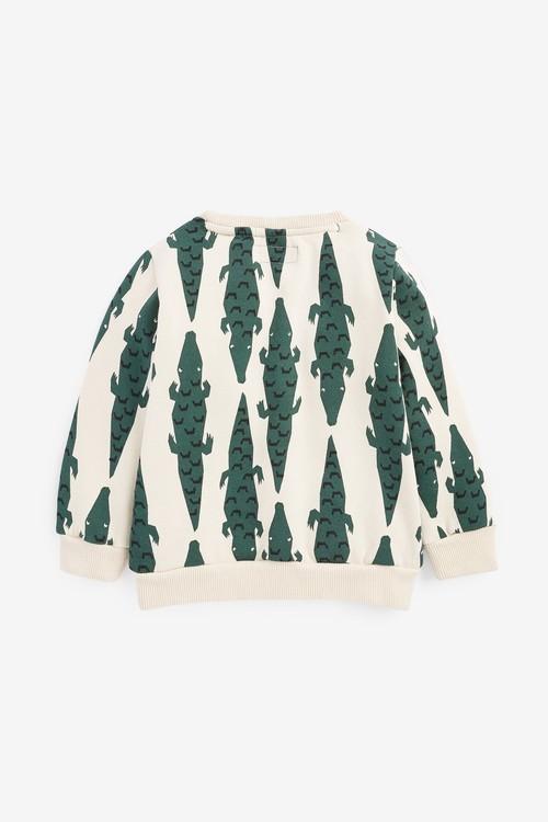Next Crocodile Print Crew Neck Sweater (3mths-7yrs)