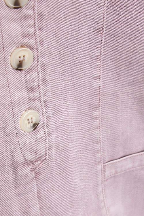 Next Button Front Short Playsuit (3-16yrs)