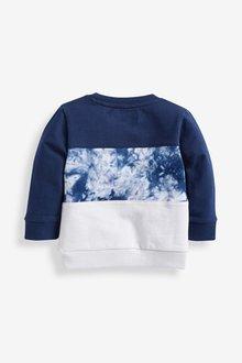 Next Colourblock Jersey Tie Dye Crew Neck Sweater (3mths-7yrs) - 290445