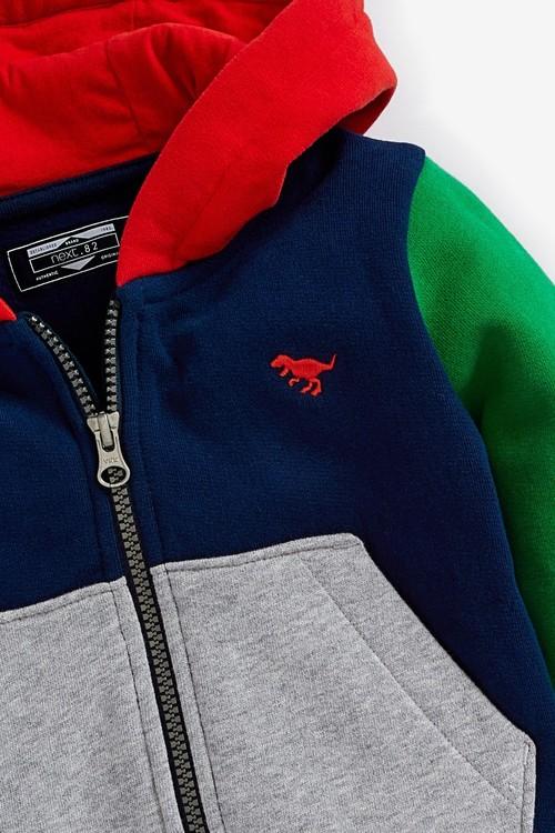 Next Jersey Colourblock Zip Through Hoodie (3mths-7yrs)