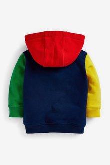 Next Jersey Colourblock Zip Through Hoodie (3mths-7yrs) - 290450
